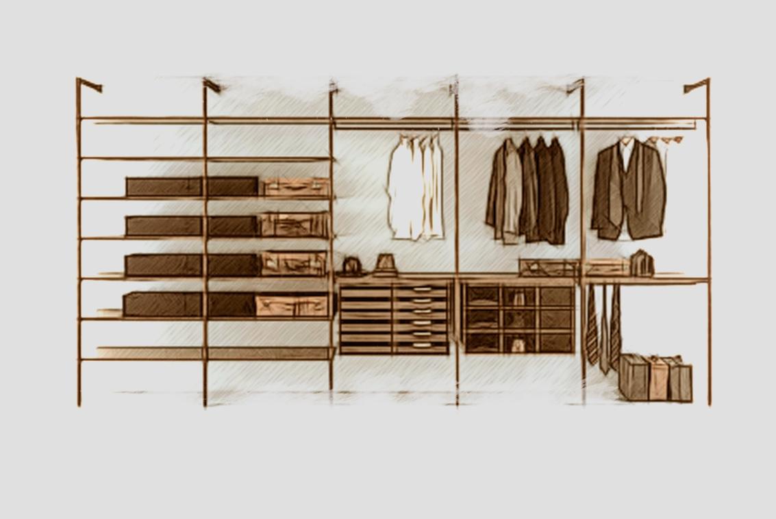Изготовление гардеробных комнат из массива дерева на заказ.